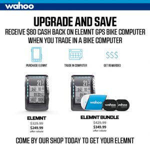 Trade in your old bike computer toward a Wahoo Elemnt